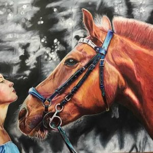 Human and horse